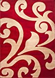 FINIKE HAND CARVED MODERN RUGS/RED-BEIGE (120X170)