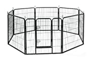 Allmax Metal Pet Fence, Black