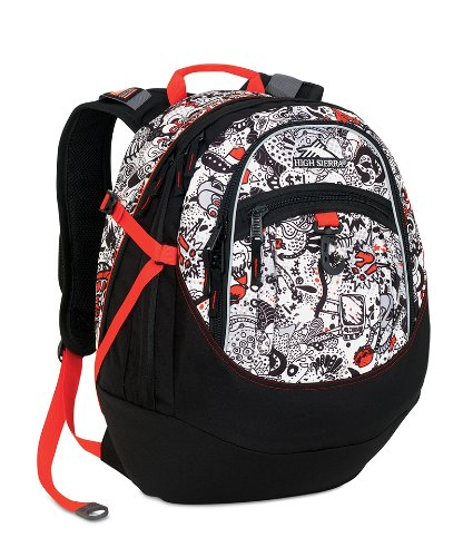 High Sierra Backpack White Print
