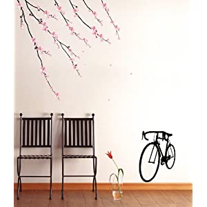 Instant Home/Wall Reusable Decal Stickers - Perfect Sakura Blossoms