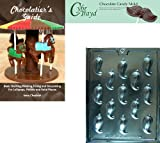 """Cybrtrayd """"Chili Pepper"""" Fruits and Vegetables Chocolate Candy Mold with Chocolatier's Guide"""
