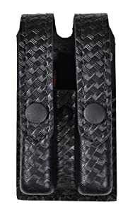 Safariland Duty Gear Slimline Double Magazine Pouch With Flap Basketweave Tactical Black Glock 17, 22, 34, 34; Sig P229
