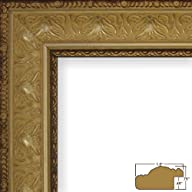 "12×16 Picture / Poster Frame, Antique Ornate Finish, 1.5"" Wide, Aged Gold (9534)"