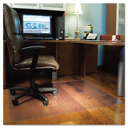ES Robbins Products - ES Robbins - Chair Mat for Hard Floors, Rectangle, 46w x 60l, Clear - Sold As 1 Each - Ultra clear mat designed to preserve and protect the beauty of laminate, wood, tile and other hard flooring. - Special texture on the underside reduces mat movement and keeps mat securely in place. - Protects against wear and tear from chair casters. - Engineered for optimum clarity, high performance and a smooth effortless roll. -