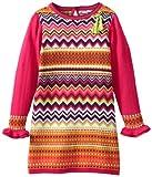 Hartstrings Little Girls' Little Girl Chevron Pattern Sweater Dress