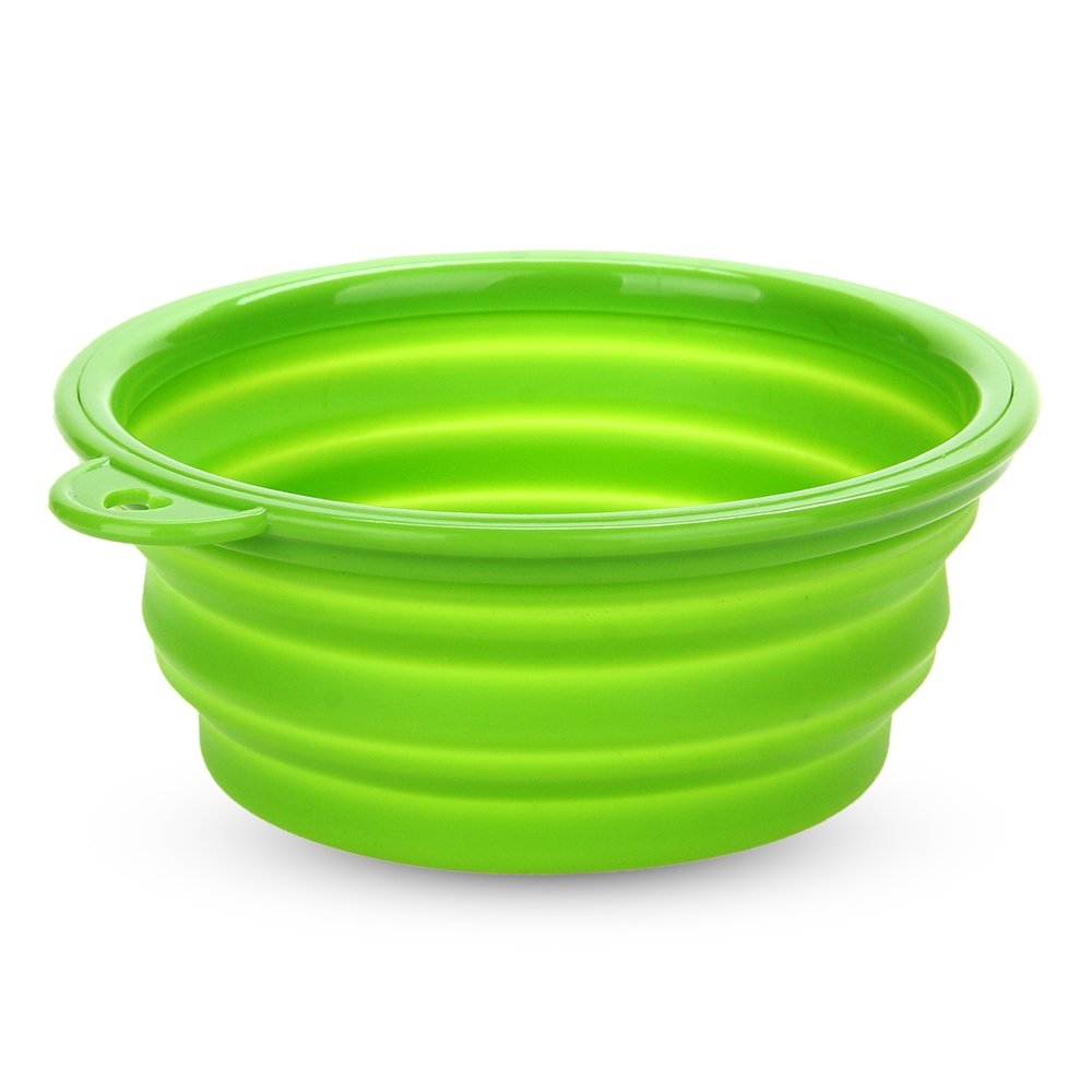 Tazon de Silicona Plegable Agua para Perro Color Verde Nuevo   revisión y más información