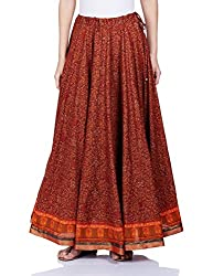 Biba Women's Skirt (DESI OPULENCE11010_Brown_S)