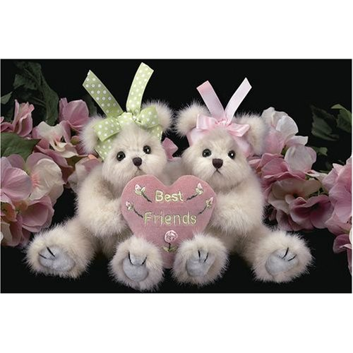 Beary Best Friends Plush Teddy Bears w Heart