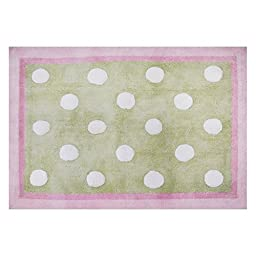 My Baby Sam Pixie Baby Rug, Pink and Green