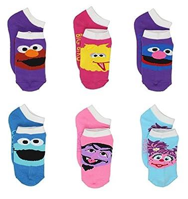 Sesame Street Little Girls 6 pack Socks