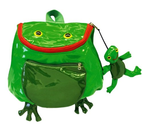 3-D Rucksack Tasche Frosch Kinder wasserabweisend