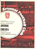 Arsenal v Chelsea official programme 23/11/1968
