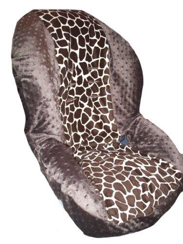 Toddler Car Seat Cover, Slip Cover- Giraffe & Brown Minky!