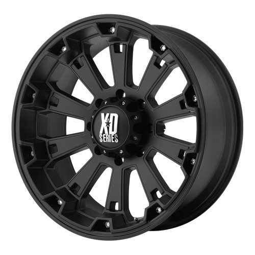 XD Series by KMC Wheels XD800 Misfit Matte Black Wheel (17x9