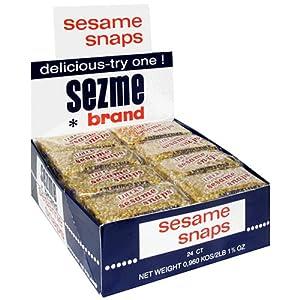 Sezme Sesame Snaps (36bars of 35g) over 2 pounds of Sesame Sezme ...