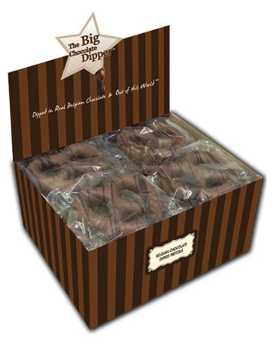 20 Pc Belgian Chocolate Bavarian Pretzel Combo Box, White and Milk Chocolate Assortment