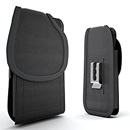 CellBee Premium Canvas Nylon Heavy Duty Pouch Carrying Case Cover  with Stainless Belt Clip Vertical and Horizontal Belt Loops