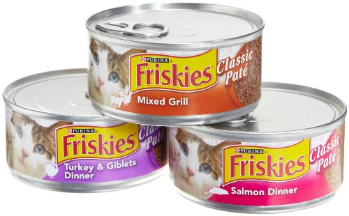 Friskies Cat Food Classic Pate, 3 Flavor Variety