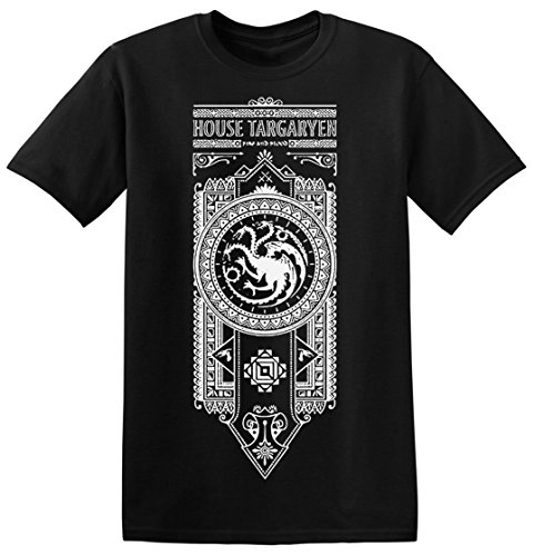 Game of Thrones House Targaryen Fire and Blood Ornamental Men's T-shirt XX-Large