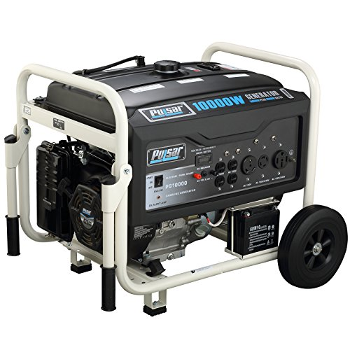 Pulsar PG10000 10,000W Peak 8000W Rated Portable Gas-Powered Generator with Electric Start (Electric Start Generator Honda compare prices)