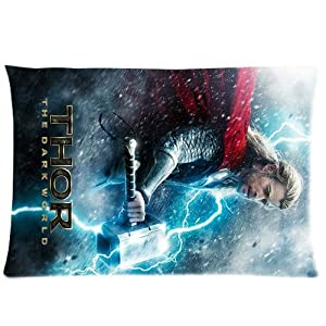 "Perfect KingArts Hot Avengers Thor Chris Hemsworth Unique Custom Zippered Pillow Cases ""20x30"" Inches (Two sides)"