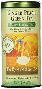 The Republic of Tea, Ginger Peach Green Tea, 50-Count
