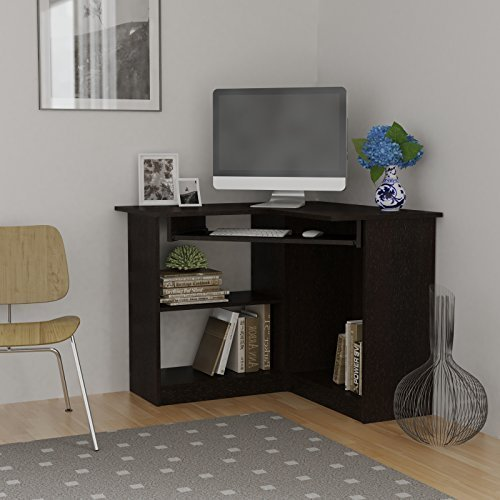 Essential Home Corner Computer Desk, Espresso (Espresso Desk Small compare prices)