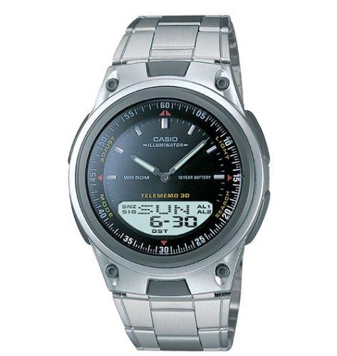 Casio Mens Ana-Digi 10-Year Battery Bracelet Watch #AW80D-1AV