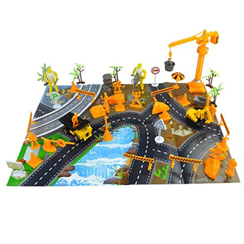 80 Pieces Urban Building Model Figures Preschool Educational Toys for Kids Playset Gift