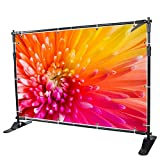 Sanven Newest Step and Repeat 8x 8 - 10 x 8 Adjustable Telescopic Height and Width Backdrop Banner Stand