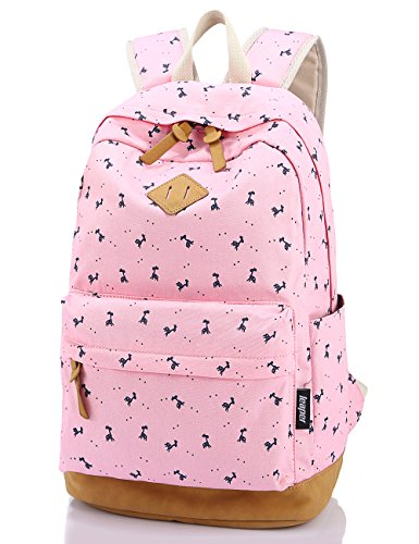 5354fb15c9 Leaper Lightweight Canvas Laptop Backpack Cute School Bags (Large