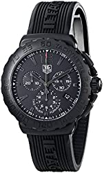 Tag Heuer Men's 'Formula 1' Black Dial Black Rubber Strap Chronograph  Watch CAU1114.FT6024