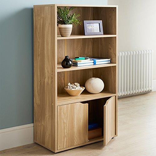 Deals For Turin Bookcase Oak Finish Storage Unit Cheap Bookcases