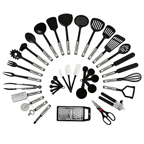 Nexgadget premium kitchen utensils 38 pieces kitchen for Kitchen set drawing