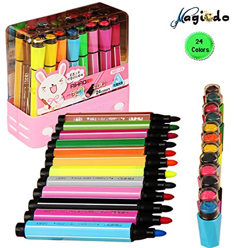 magicdor-24cols-watercolor-pen-stamp-marker-pen-watercolor-marker-pen-with-art-seal-non-toxic-washab