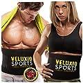 Waist Trimmer Ab Belt (Elite Edition) - Adjustable Weight Loss Sauna Belt For Men & Women With Lower Back & Lumbar Supports For Easy, Effortless Waist Slimming - Lifetime Guarantee