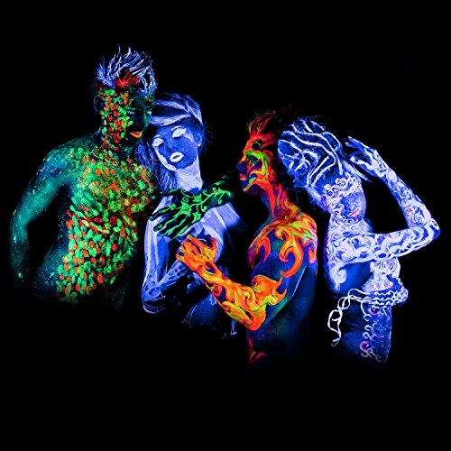 Neon nights black light fluorescent uv neon body paint for Neon paint party 2017