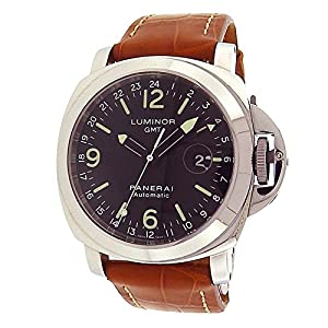 Panerai Luminor GMT automatic-self-wind black mens Watch PAM00063 (Certified Pre-owned)