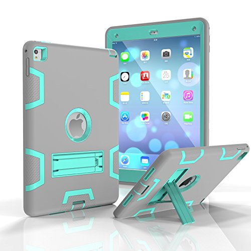 iPad Pro 9.7 inch Case, Anna Shop [Heavy Duty] 3in1 PC+Silicon Hybrid Protective [Kickstand Feature]Shock-Absorption / High Impact Resistant Armor Defender Case For iPad Pro 9.7 inch 2016 Release (Sensor Case For Nike compare prices)