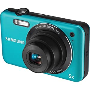 Samsung SL605 12.2 MP Digital Camera with 5X Optical Zoom and 2.7-Inch LCD Screen (Blue)