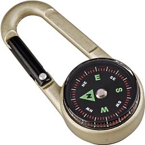 munkees 3135 Karabiner Kompass mit Thermometer