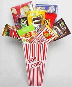 Movie Night Candy & Popcorn Gift Basket