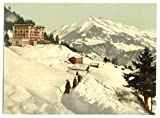 Photographic Print of Victorian Photochrom Leysin, the sanatorium and Chaussy in winter, Nand, Canton of, Switzerland