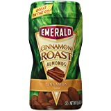 Emerald Cinnamon Roast Almonds, 8.5 Oz. Canisters (4 Pack)