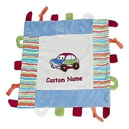 Carl the Car Activity Blankie - 15 inch Square, Custom Name