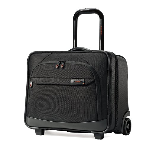 Samsonite Luggage Pro 3 17 Inch Wheeled Mobile Office Business Case, Black/Orange, One Size