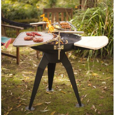 La Hacienda Cordoba Firepit And Grills, 29.9 By 26.8-Inch, Black