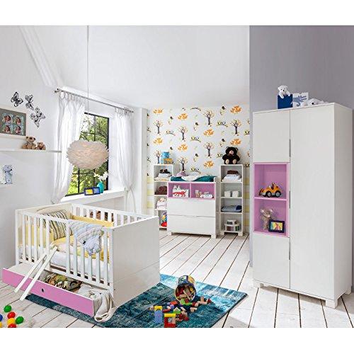 Babyzimmer Set »RISONU166« alpinweiß, rosa günstig kaufen