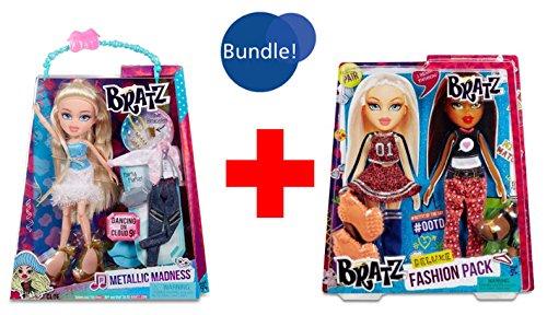 Bratz Metallic Madness Doll & Accessories Cloe Brand New in Box and Bratz Deluxe Fashon Pack # 3: Cloe and Sasha (House Of Madness compare prices)