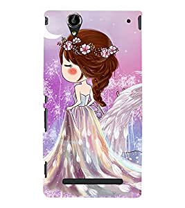 Cute angel Back Case Cover for Sony Xperia T2